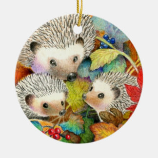 Double Sided Hedgehog Ornament
