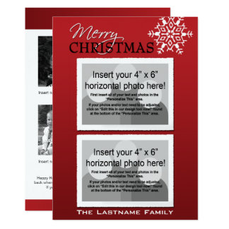 Double-sided Holiday Photo Card