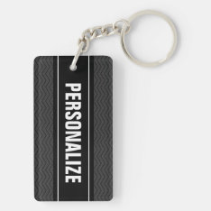 Double Sided Keychain | Personalize Two Sides at Zazzle