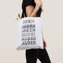 Double-sided Kids Personalized Name Pattern Color Tote Bag