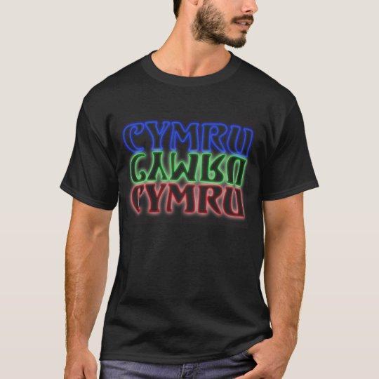 double sided neon cymru cymru cymru T-Shirt