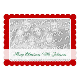 Double sided photo Christmas card for two pictures
