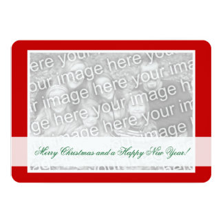 Double sided photo Christmas cards for two images