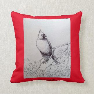 Cardinal Bird Throw Pillows : Red Cardinal Bird Pillows - Decorative & Throw Pillows Zazzle