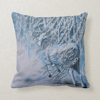 Double-sided Pillow- Horse Galloping in Moonlight Throw Pillow