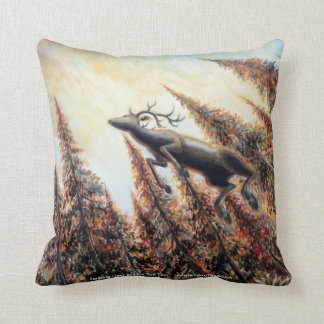 Double-sided Pillow - Leaping Deer