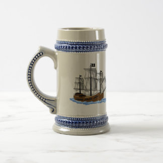 Double Sided Pirate Ship Stein