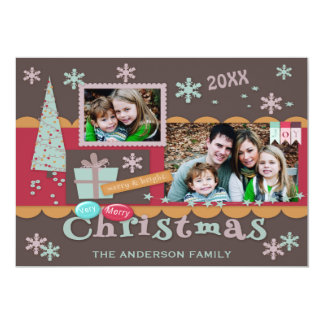 Double Sided Scrapbooking Christmas Photo Card