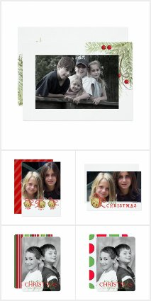 Double Sided Single Photo Holiday Cards