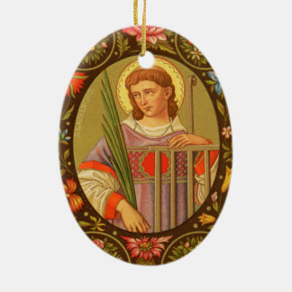 Double-Sided St. Lawrence of Rome (PM 04) Ceramic Ornament