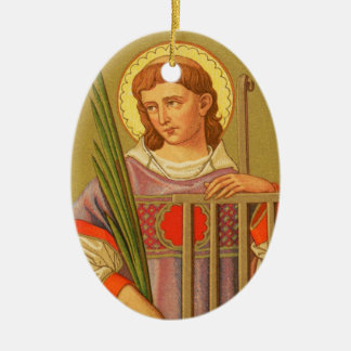 Double-Sided St. Lawrence of Rome (PM 04a) Ceramic Ornament