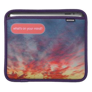 Double-Sided Sunset Brainwave Bot iPad Sleeves
