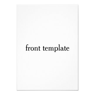 double sided template card