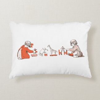 double sided vintage childrens illustration pillow