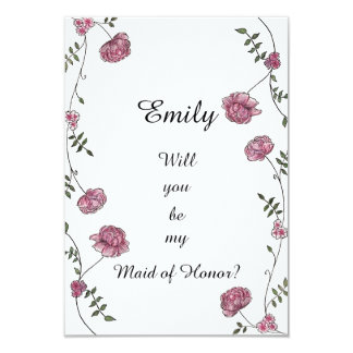 Double sided Will you be my Maid of Honor card