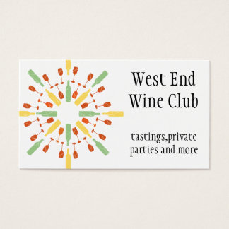 Double sided wine themed business card