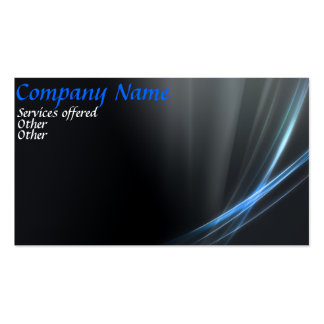 Double Sides blue business card
