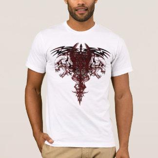 Double Skulls Tribal T-Shirt