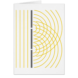 Double Slit Light Wave Particle Science Experiment Card
