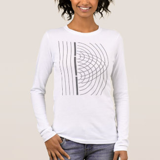 Double Slit Light Wave Particle Science Experiment Long Sleeve T-Shirt