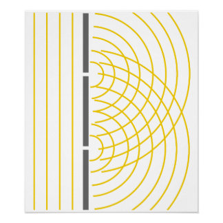 Double Slit Light Wave Particle Science Experiment Posters