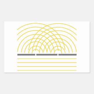Double Slit Light Wave Particle Science Experiment Rectangular Sticker