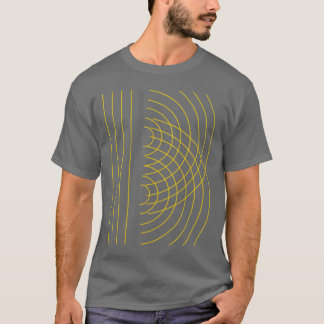 Double Slit Light Wave Particle Science Experiment T-Shirt