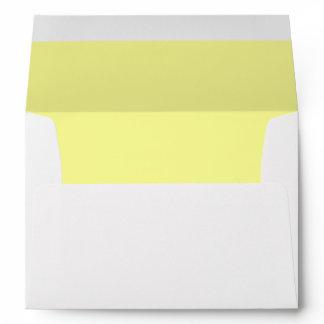 Double Soft Yellow Trim - Envelope