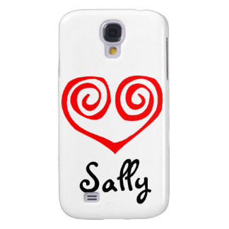 Double Spiral Red Heart Samsung Galaxy S4 Cover