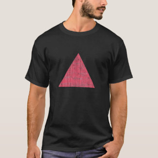 Double Stamped Pink Triangle T-Shirt