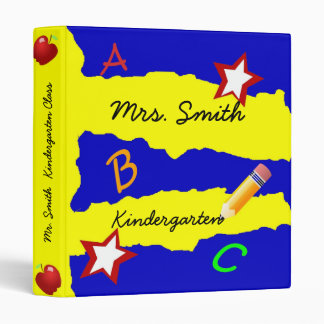 Double Star Blue and Yellow School Binder