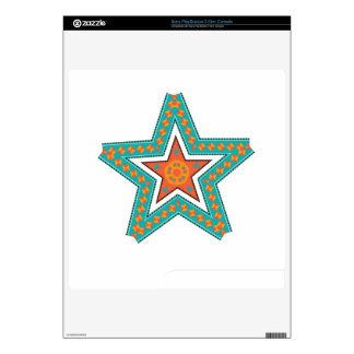 Double star illustration decals for PS3 slim