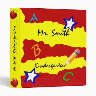 Double Star Red and Yellow School Binder