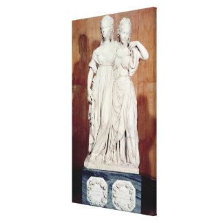 Double statue of the Princesses Louise (1776-1810) Canvas Print