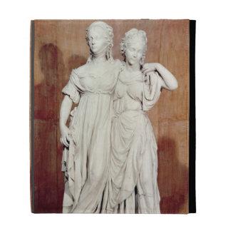 Double statue of the Princesses Louise (1776-1810) iPad Folio Cover