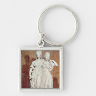 Double statue of the Princesses Louise (1776-1810) Keychain