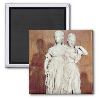 Double statue of the Princesses Louise (1776-1810) Magnet