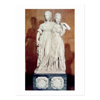 Double statue of the Princesses Louise (1776-1810) Postcard