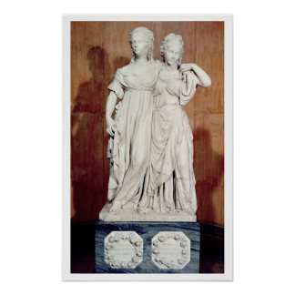 Double statue of the Princesses Louise (1776-1810) Poster