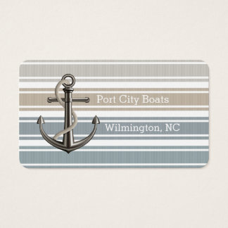 Double Striped Coastal Business Card