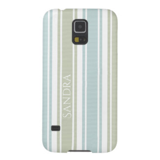 Double Striped Seafoam & Blue Galaxy S5 Cover