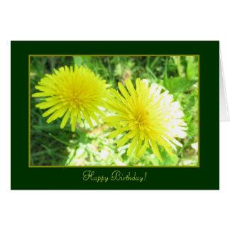 Double Sun Yellow Happy Birthday Card