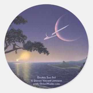 Double Sunset, Double Sun Set Steven Vincent J... Classic Round Sticker