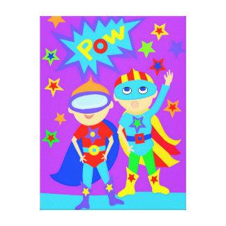 Double Super Hero Kids Canvas Print