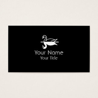 Double Swan black white custom business cards