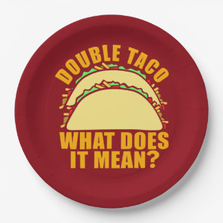 Double Taco Paper Plate
