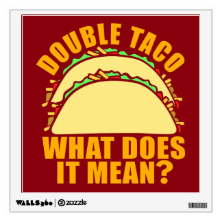 Double Taco Wall Sticker