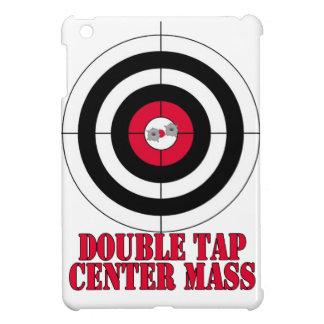 Double tap center mass gun target iPad mini case