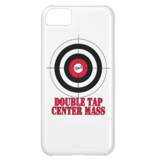 Double tap center mass gun target iPhone 5C cover