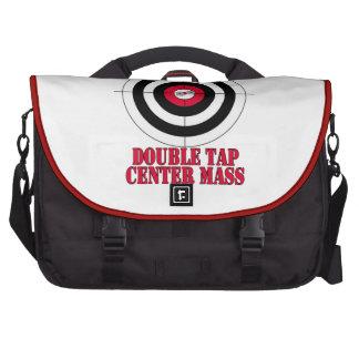 Double tap center mass gun target computer bag